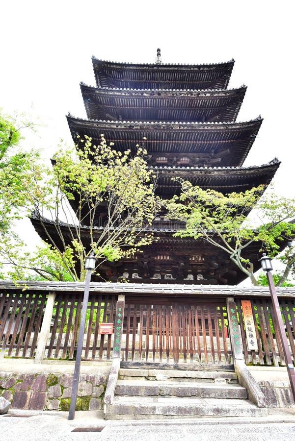 pagoda Cinco-famosa en Kyoto fotos de archivo
