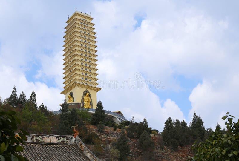 Pagoda cinese del tempiale immagine stock libera da diritti