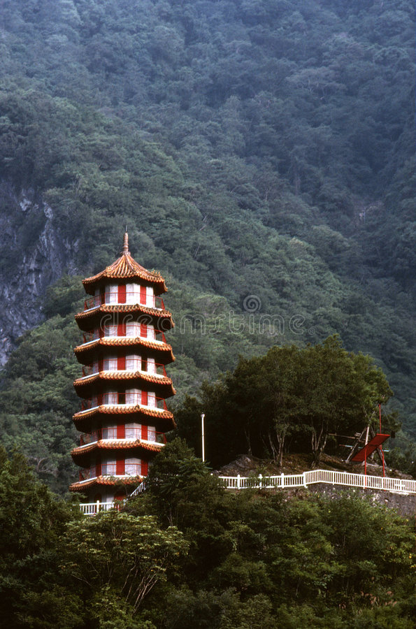 Pagoda cinese della montagna immagine stock libera da diritti