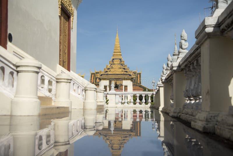 PAGODA D'ARGENT DU CAMBODGE PHNOM PENH ROYAL PALACE image stock