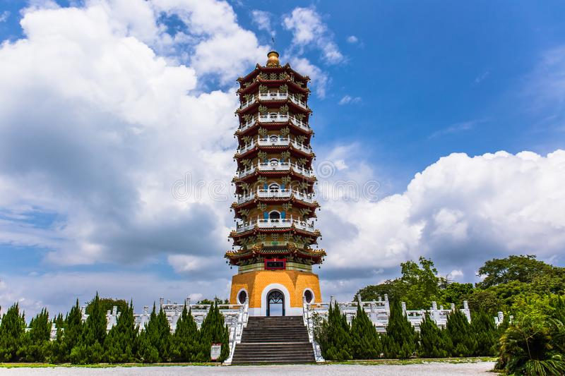 Pagoda d'en de ci photo stock