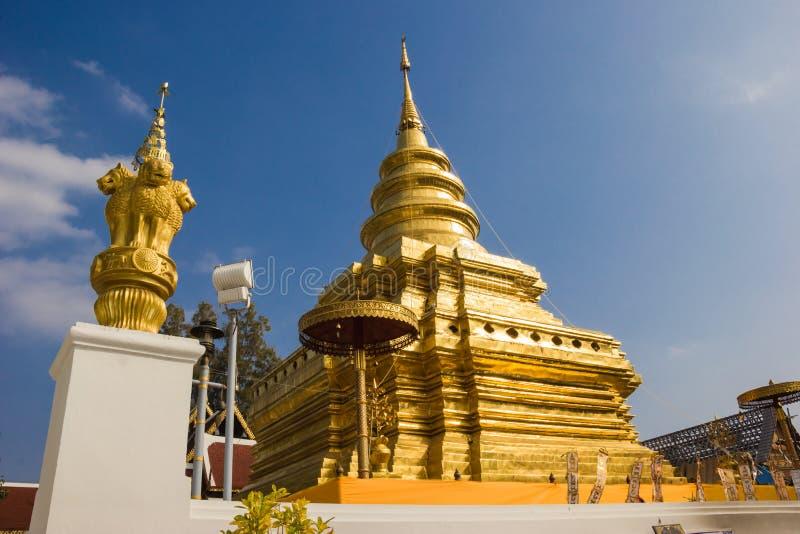 Pagoda d'or en Thaïlande. image libre de droits