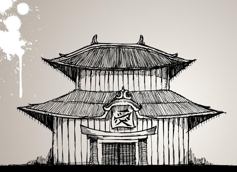 pagoda d'illustration illustration libre de droits