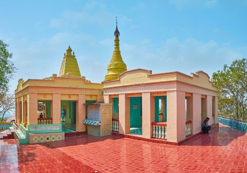 pagoda d'U Min Thonze Caves, Sagaing photographie stock