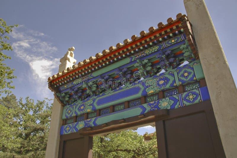 Pagoda da entrada dos túmulos de Ming fotografia de stock
