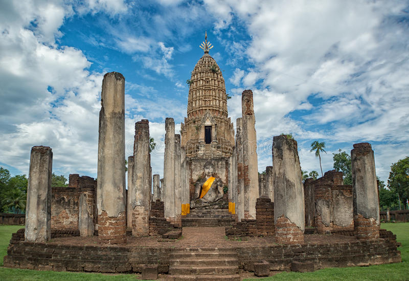 Download Pagoda dans Sukhothai photo stock. Image du antique, religion - 76084198