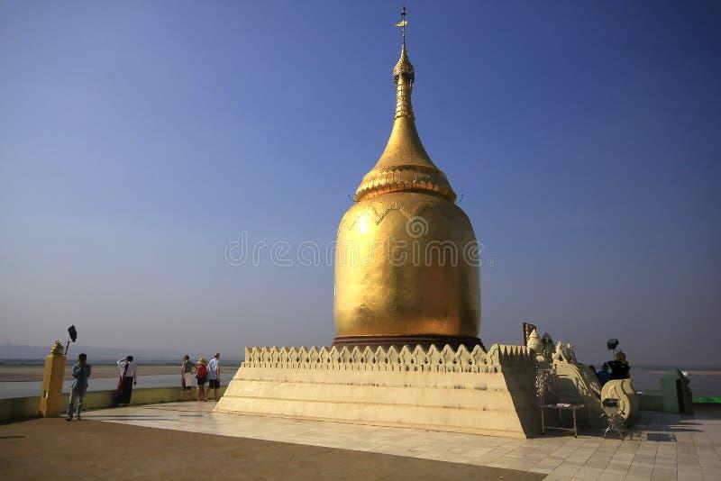 Pagoda de Bupaya en la ciudad de Bagan imagen de archivo libre de regalías