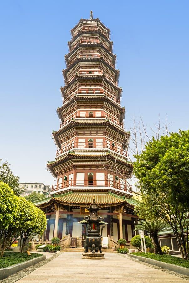 pagoda de 9 chinos de las historias fotos de archivo libres de regalías