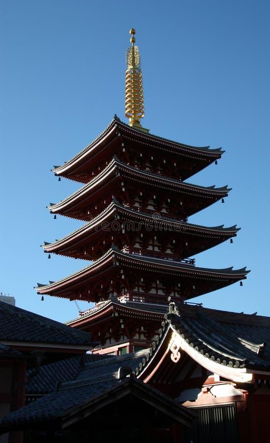 Pagoda de cinco historias fotos de archivo libres de regalías