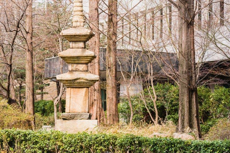 Pagoda de Coréen d'histoire de la pierre quatre photos stock