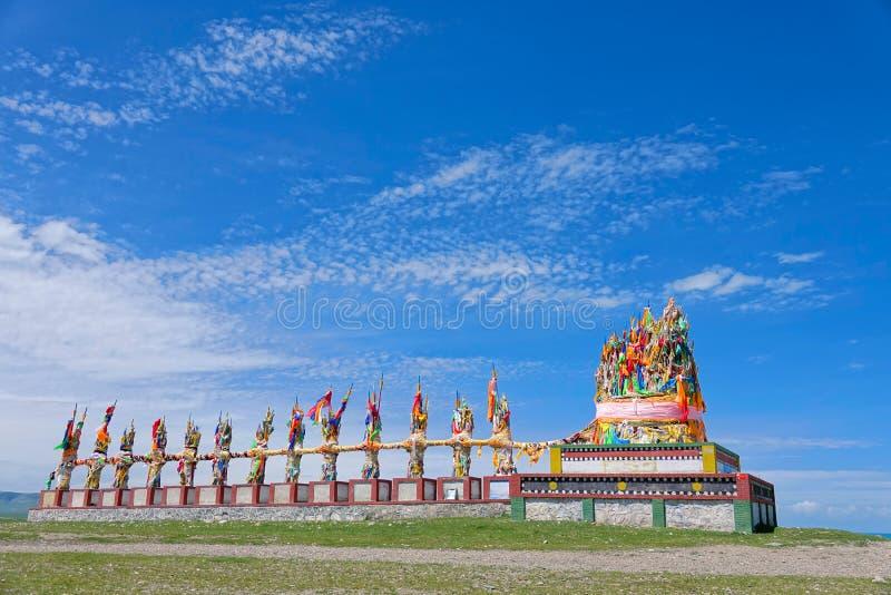 Pagoda de drapeau de prière photos libres de droits