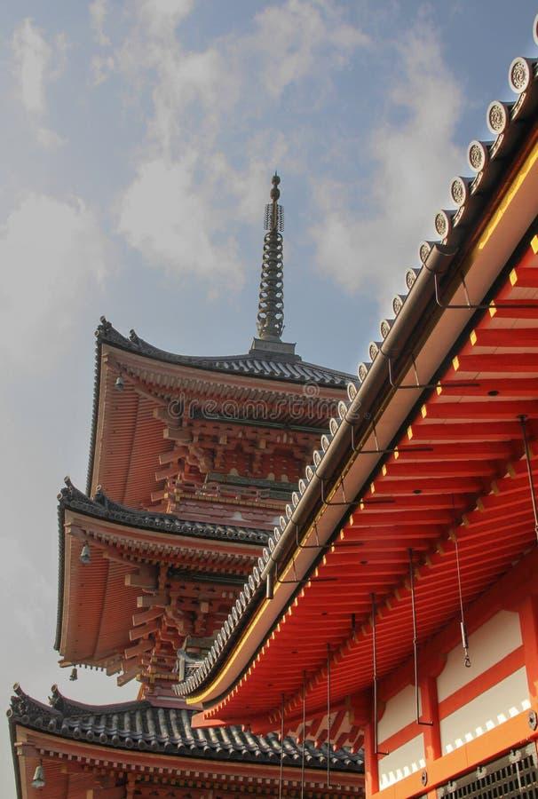 pagoda de 3 histoires dans le temple de Kiyomizu-dera, Kyoto photo libre de droits