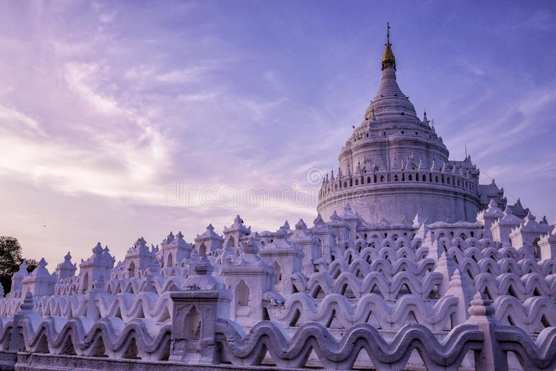 Pagoda de Hsinbyume dans Mingun, Myanmar image stock