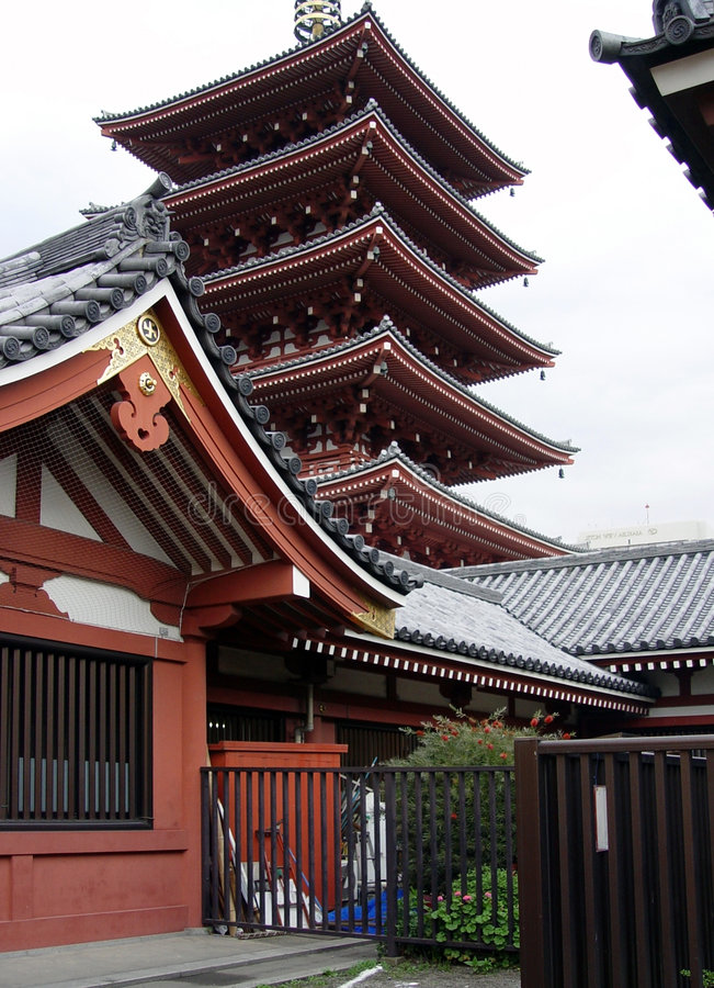 Pagoda de Japaneese photo stock