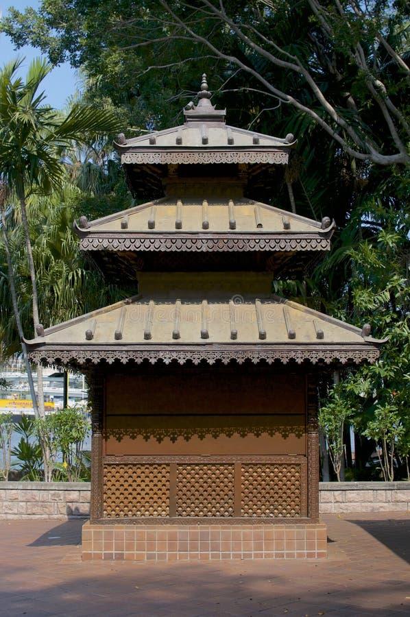 Pagoda de madeira pequena imagens de stock