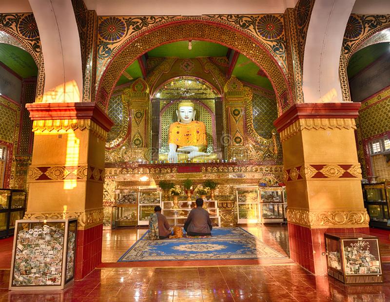 Pagoda de Mandalay Sutaungpye imagen de archivo libre de regalías