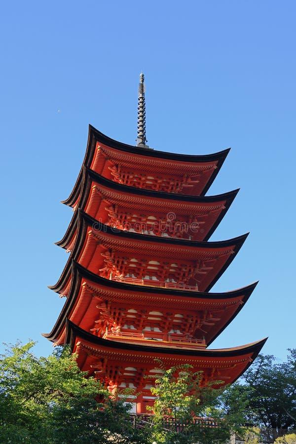 Pagoda de Miyajima fotos de stock