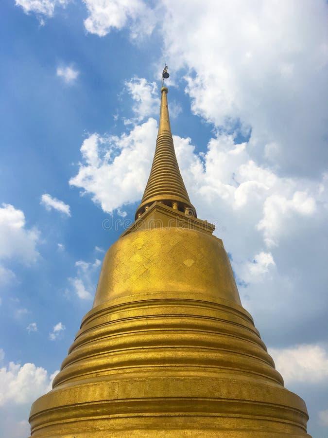 Pagoda de oro de Wat Saket, Bangkok foto de archivo libre de regalías