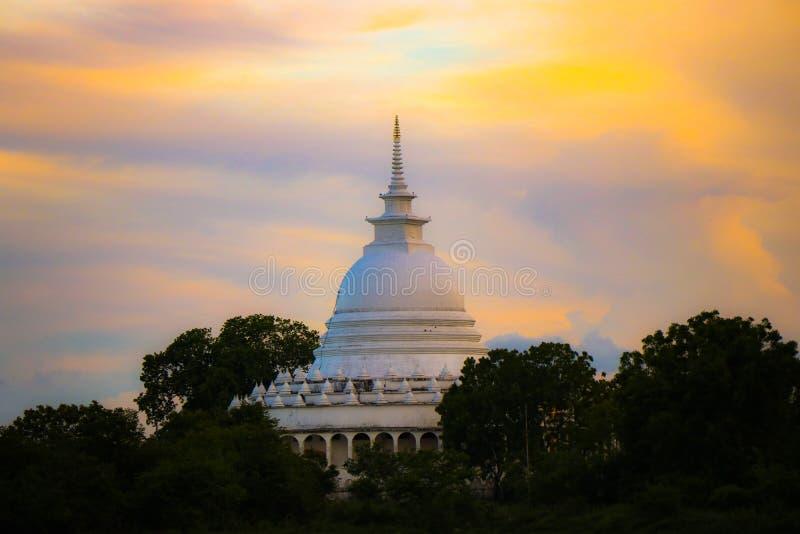 Pagoda de paix d'Ampara photo libre de droits