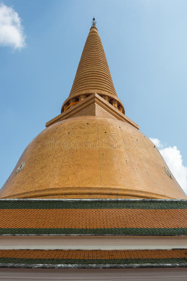 Pagoda de Phra Pathom images stock