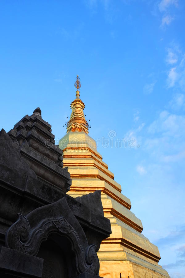 Pagoda de Phrathat Chohae images stock
