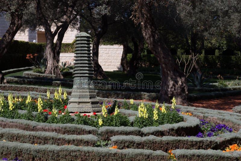 Pagoda de sculpture en fonte photo libre de droits