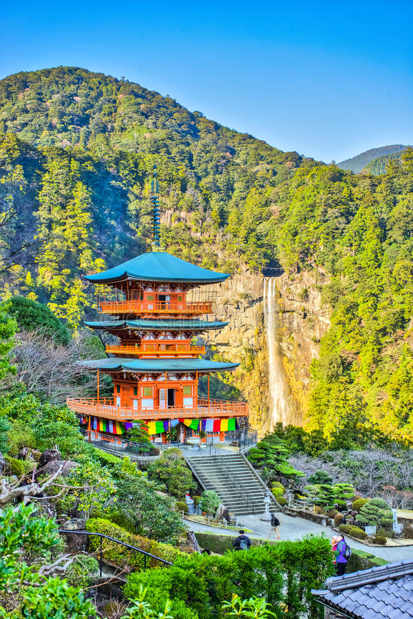 pagoda de Seiganto-JI en préfecture de Wakayama, Japon images stock