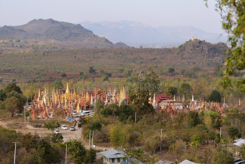 Pagoda de Shwe Indein photos libres de droits