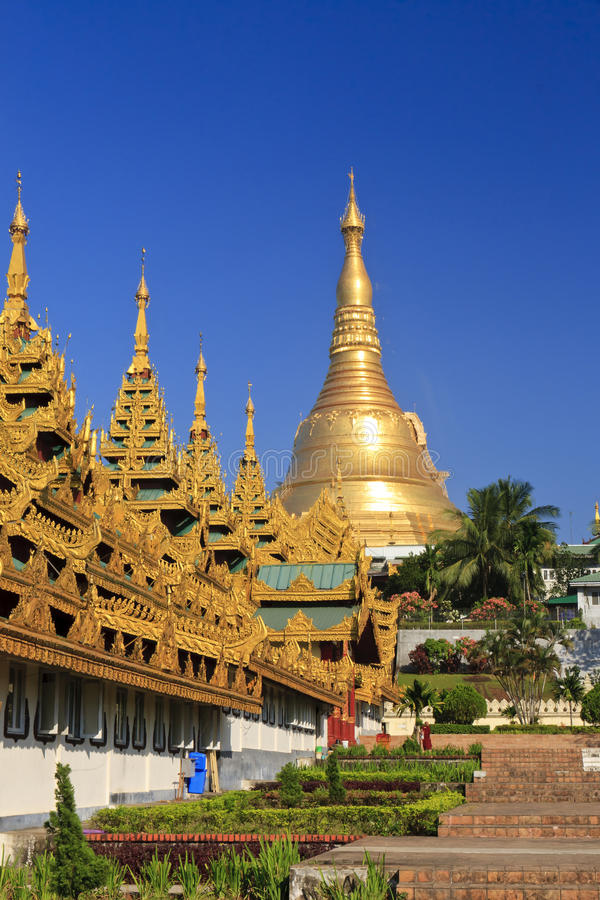 Pagoda de Shwedagon à Yangon, Myanmar   photo stock