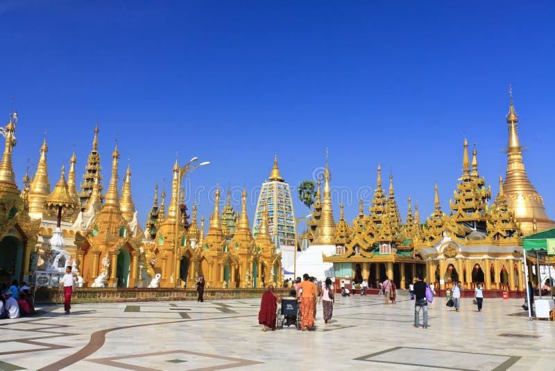 Pagoda de Shwedagon à Yangon, Myanmar   images stock