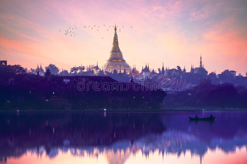Pagoda de Shwedagon foto de stock