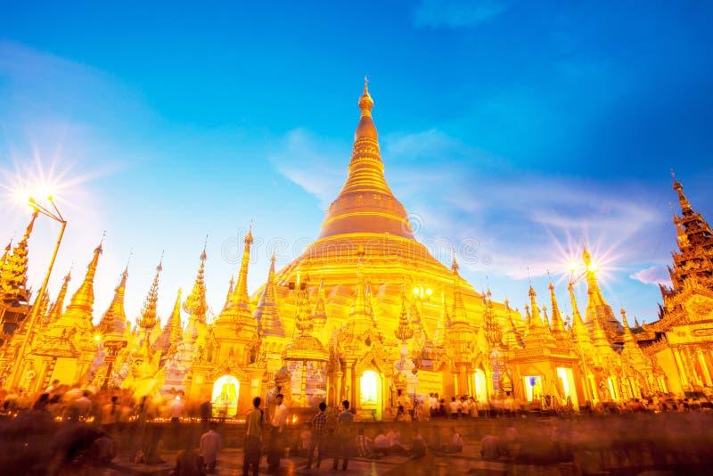 Pagoda de Shwedagon dans Yagon, Myanmar photographie stock