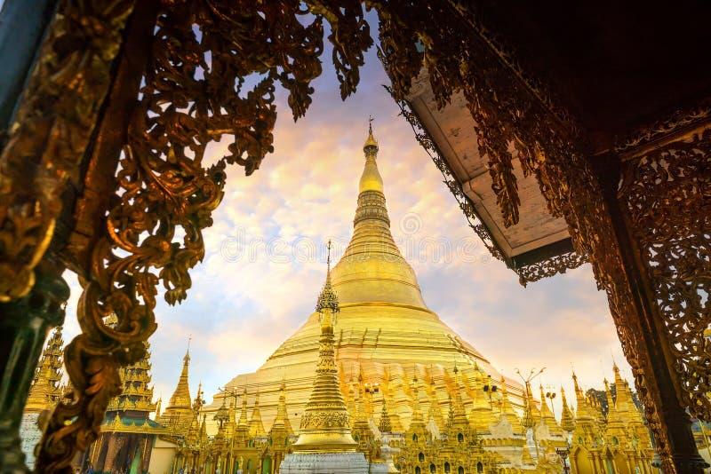 Pagoda de Shwedagon en Rangún, Myanmar foto de archivo