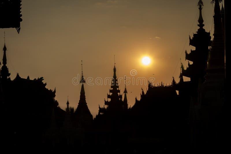 Pagoda de Shwedagon en Yangon, Myanmar (Birmania) fotos de archivo