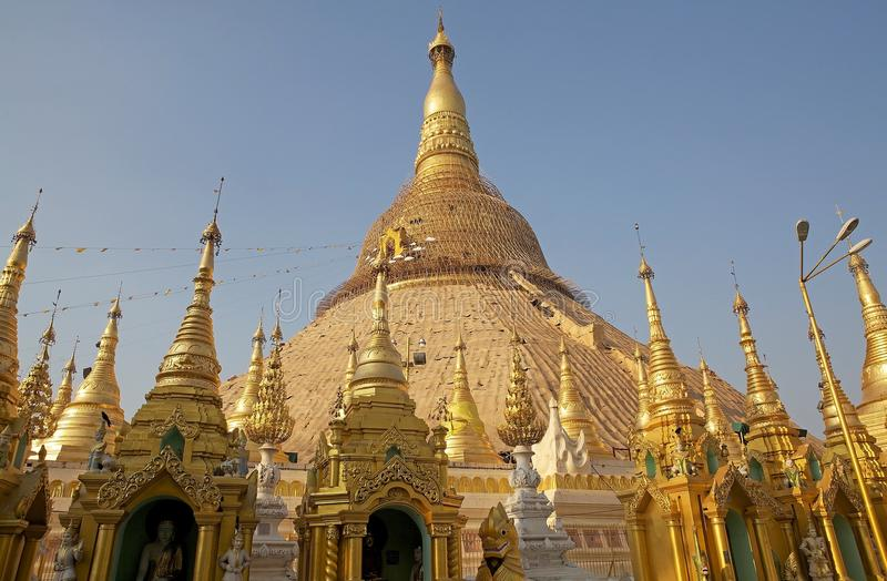 Pagoda de Shwedagon, Yangon, Myanmar photo stock