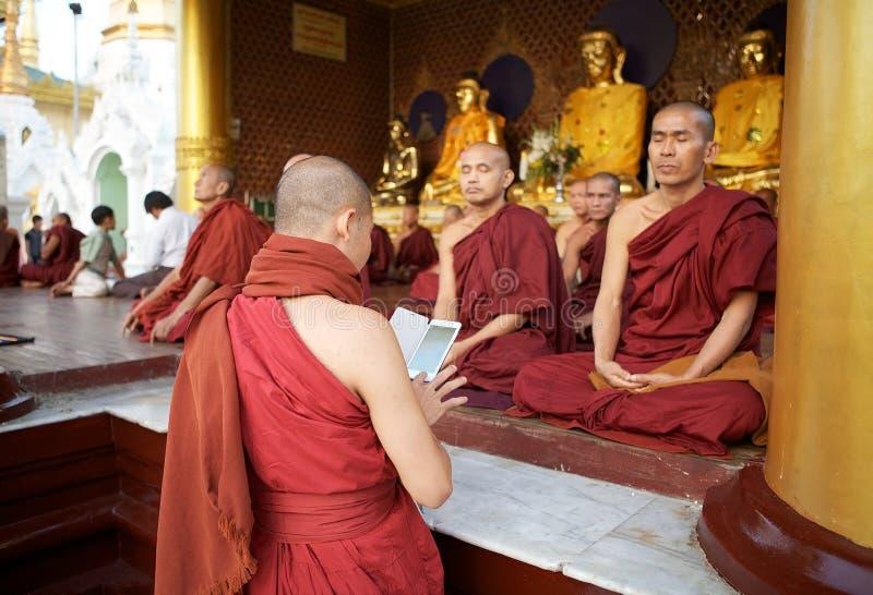 Pagoda de Shwedagon, Yangon, Myanmar photographie stock libre de droits