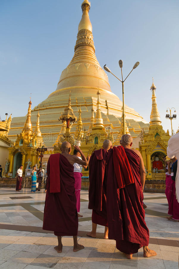 Pagoda de Shwedagon, Yangon, Myanmar photos libres de droits