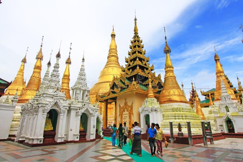 Pagoda de Shwedagon, Yangon, Myanmar imagem de stock royalty free
