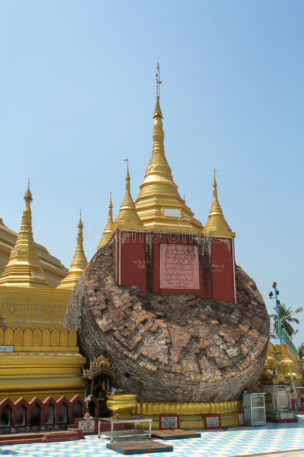 Pagoda de Shwemawdaw en Myanmar imagenes de archivo
