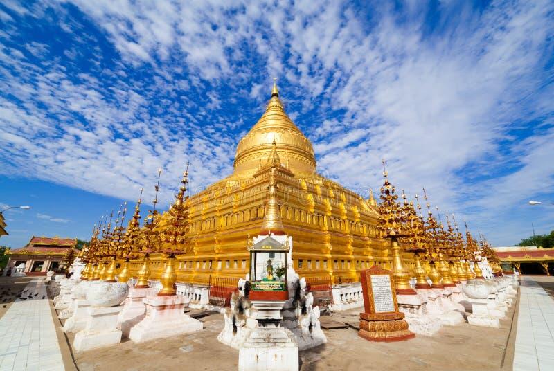 Pagoda de Shwezigon, Bagan, Myanmar image stock