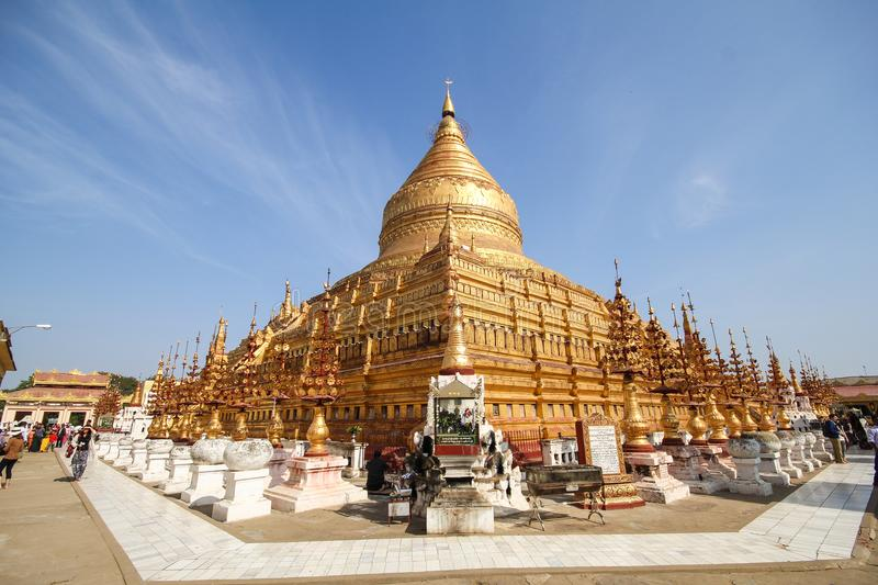 Pagoda de Shwezigon, Bagan, Myanmar, beau temple photo stock