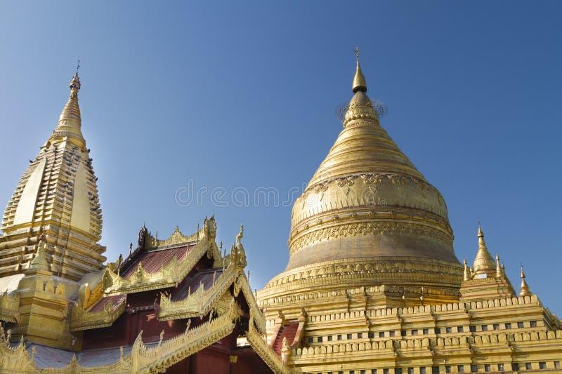 Pagoda de Shwezigon, Bagan, Myanmar (Birmania) foto de archivo libre de regalías