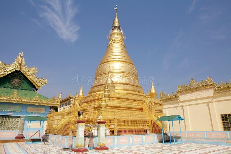 Pagoda de Sone Oo Pone Nya Shin, Myanmar images stock