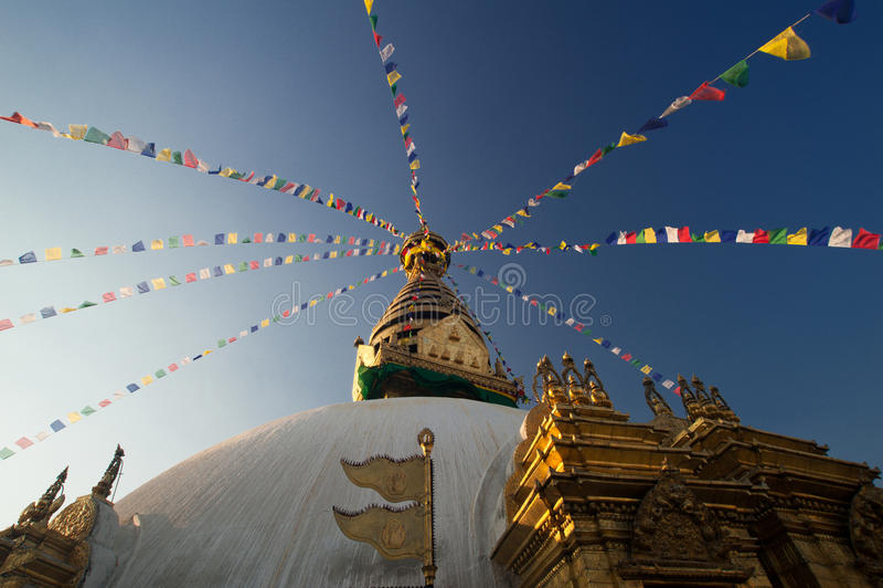 Pagoda de Swayambhunath au Népal photos stock
