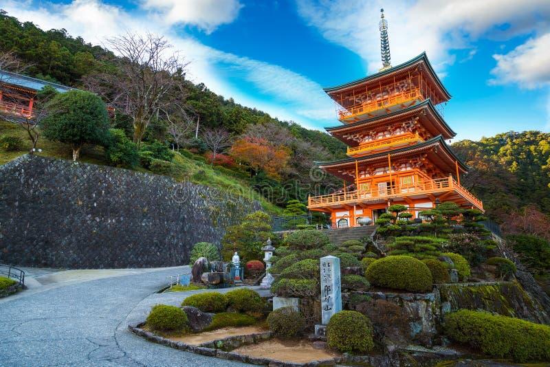 Pagoda de temple de Seiganto-JI chez Nachi Katsuura photos stock