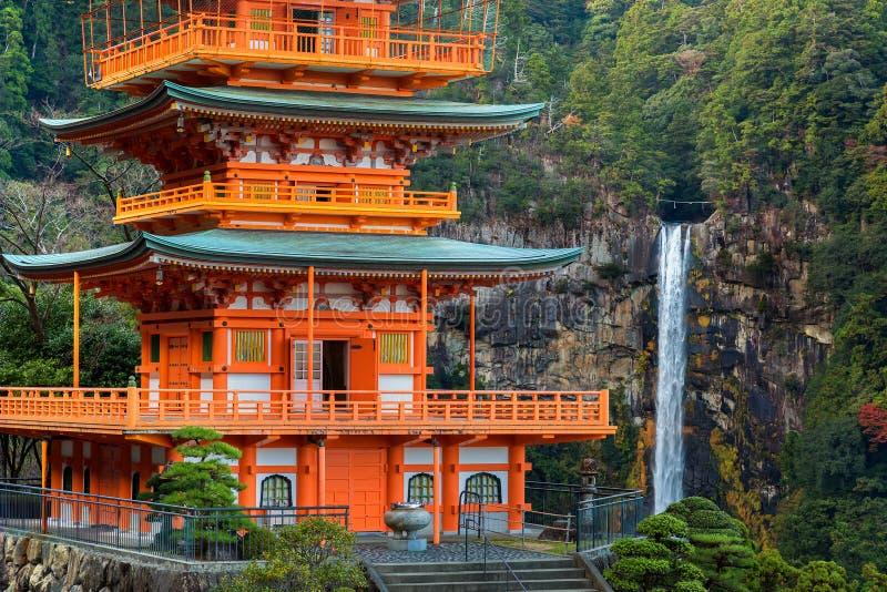 Pagoda de temple de Seiganto-JI chez Nachi Katsuura image stock