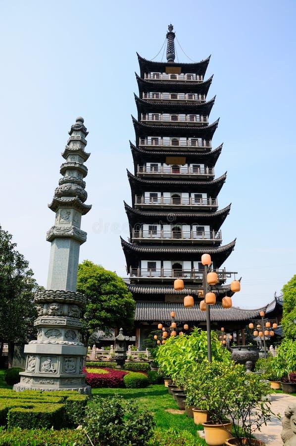 Pagoda de temple de Zhenru images libres de droits