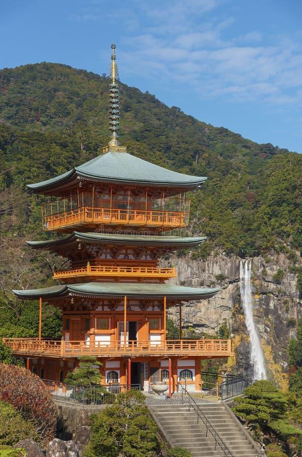 Pagoda de temple de Seiganto-JI au Japon photo stock