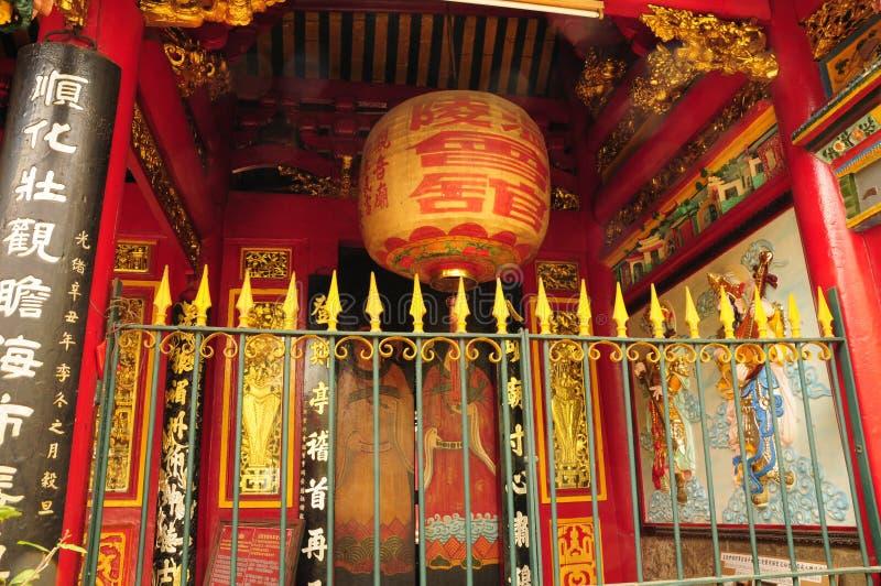 Pagoda de Thien Hau em Saigon imagens de stock