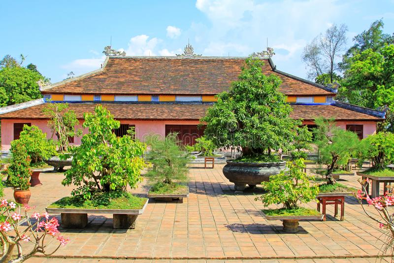 Pagoda de Thien MU, Hue Vietnam image stock